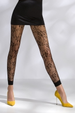 Leggings résille TI051 - noir : Leggings de charme en résille fantaisie à motifs.