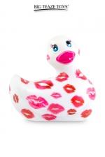 Mini canard vibrant Romance blanc et rose : Déclinaison blanche et rose du célèbre canard vibrant dans la collection Romance.  I Rub My Duckie est désormais en version 2.0.