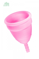 Coupe menstruelle Rose Yoba Nature : Coupe menstruelle 100% silicone Premium, coloris rose, disponible en 2 tailles, par Yoba Nature.