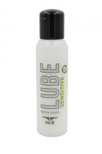 Lubrifiant Mister B Lube Sensitive 100 ml : Lubrifiant à base d'eau, Aloe Vera et vitamine E, spécial peaux sensibles qui répare et hydrate la peau, évite les irritations.