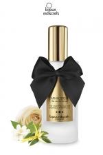 Gel parfumé 2 en 1 à base de silicone Aphrodisia : Lubrifiant intime et massages 2 en 1 parfum floral, par Bijoux Indiscrets.