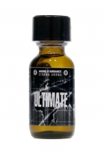 Poppers Ultimate 25ml : Arôme d'ambiance ultra fort à l'Amyle, pour vivre des moments de plaisir ultimes ! Flacon de 25 ml.